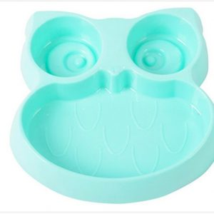 Pet bowl owl shape